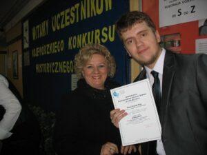Kamil Szaj Laureatem Wojewódzkiego Konkursu Historycznego