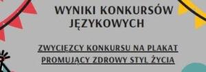 UWAGA! Wyniki konkursów językowych!